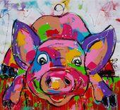 #wwwvrolijkschilderijnl # pig # liz Pig Liz – – # liz pig # pig