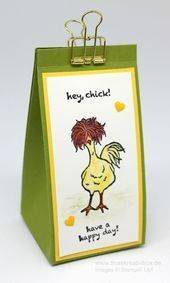 Ostereier Tüte Hey Chick – mit Produkten von Stampin' Up! – #Chick #Hey #mi… …