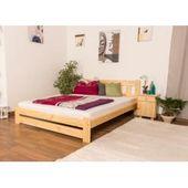 Kinderbett / Jugendbett Kiefer Vollholz massiv natur A4, inkl. Lattenrost – Abmessung 140 x 200 cm S