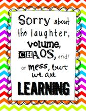 """Sorry in regards to the mess"" Classroom Signal {FREEBIE}"