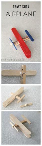 Craft Stick Airplane och Craft Kit för välgörenhet   Att göra livet lyckligt