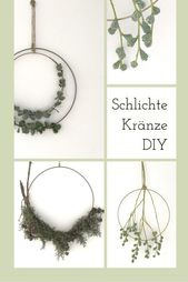 Simple wreaths tie with brass ring, instructions for making yourself!