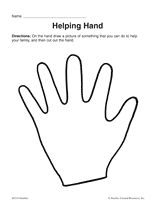Helping Hand Printable Pre K 1st Grade Teachervision Com Helping Hands Helping Hands Craft Hand Crafts For Kids