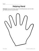 Helping Hand Printable Pre K 1st Grade Teachervision Com Helping Hands Helping Hands Craft Hand Crafts For Kids