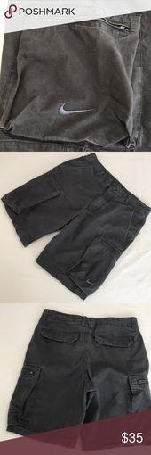 NIKE Gr. 30 (M) Grey Cargo Shorts Nike-Shorts mit mehreren Taschen zur Auswahl …   – My Posh Picks