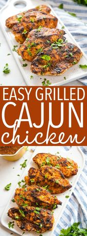 Easy Cajun Grilled Chicken