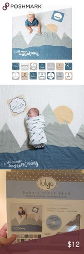 """Luluji baby first year blanket and cards set Comes with """"I will move mountains"""" … – My Posh Picks"""
