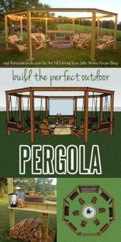 DIY Amazing Pergola und Feuerstelle mit Schaukeln …