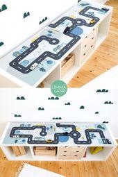 Spieltisch Autos. Kindertisch zum Spielen. Auto-Tabelle. Spieltisch für kleine Au …   – DIY & Freebies Limmaland