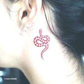 tatouage à l'encre rouge, #diypermanenttattooink #ink #red #Tattoo   – Diy Tattoo Permanent