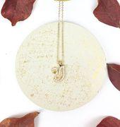 Schwan Gold plattiert elegante Silber Anhänger Halskette mit Zirkonia Steinen, vergoldete Silberkette, Gold Minimal Halskette   – Sterling Silver Jewelry Necklace