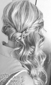 Wedding Hairstyles To The Side Waves Haircuts 41+ Ideas #wedding #hairstyles
