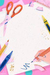 Download Premium Vector Of Blank Pink Back To School Frame Vector 1224972 School Frame Blank Pink Back To School Wallpaper