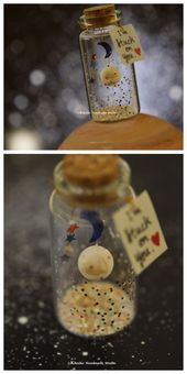 Handmade PLANET,message in a bottle,Miniatures,Personalised Gift,Funny Love Card…