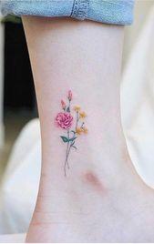 Über 50 großartige Designs für kleine Tätowierungen, Ideen und kleine Tätowierungen – Seite 15 von 50 #flowertattoos Flower Tattoo Designs #flowertattoos – flower tattoos