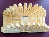 Purple Colors and Me: Clothespin Napkin holder …