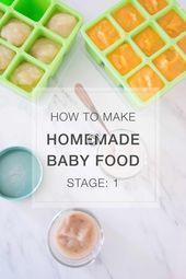 Une heure pour un mois de nourriture pour bébé faite maison – 40+ recettes de l'étape 1! L …   – mypins