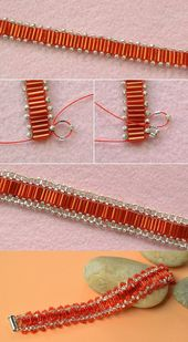 Red seed beads, how is that? LC.Pandahall.com has published the tutorial soo …