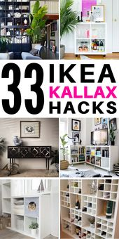 33 Stunning Ikea Kallax Hack Ideas you Need to See
