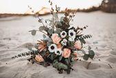 Brautstrauß mit Anemonen – Hochzeit   Brautstrauß Boho Vintage Wedding Flowers