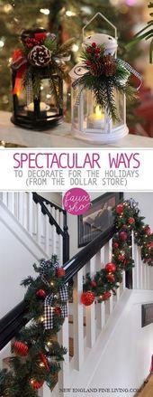 Spektakuläre Dekorationsmöglichkeiten für die Feiertage (Aus dem Dollar Store)