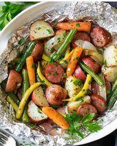 Knoblauch-Kräuterwurst- und Gemüsefolien-Sets von Jaclyn {Cooking Classy} Jaclyn …   – Healthy Recipes