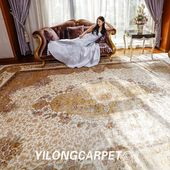 YILONG silk carpet factory handmade silk carpet collection boutique appreciation (4)