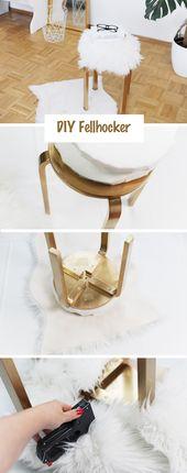 Build cheap furniture yourself: DIY fur stool