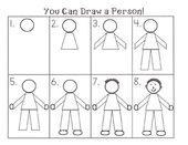 Schritt für Schritt Eine Person zeichnen
