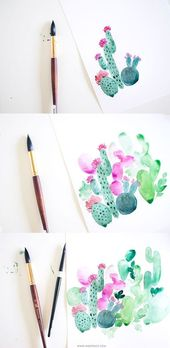 96 Simple and Beginner-Friendly Watercolor Ideas – Olivia Zozom