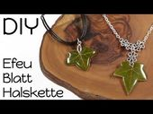 Real ivy leaf chain | Cast Resin DIY Instructions | Leaves in Resin Jewelry Tutorial