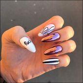 91+ einfache kurze Acryl-Sommernägel-Designs für 2019 – Seite 9 – #acryl #desi … – #Acryl …   – Nails Acrylic