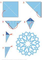 Origami Schneeflocke Anleitung | Kostenlose druckbare Papercraft-Vorlagen – DIY Papier Weblog