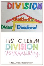 Tricks to Assist Your College students Be taught Division Vocabulary