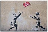 No Ball Games Banksy Graffiti Underground Spray Painting Dark Humour Canvas Print Giclée Gallery Wrap Art Décor   – Banksy