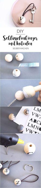 DIY-Schlüsselanhänger mit Initialen