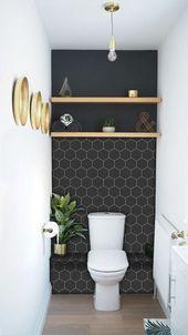 Küchen- und Badezimmer-Küchenrückwand – abnehmbare Vinyltapete – Hexa-Ebenholz – Peel & Stick