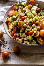 Corn, Tomato, and Avocado Chickpea Salad