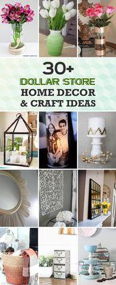 30+ Dollar Store DIY Home Decor & Craft Ideas