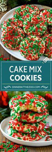 Receta de galletas de mezcla para pasteles | Espolvorear galletas | Galletas de Navidad #cookies #christm …   – Recipes