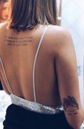 De belles idées de tatouages pour habiller sa colonne vertébrale
