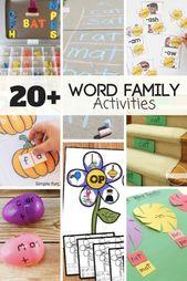 20 FUN Wortfamilienaktivitäten – Literacy activities