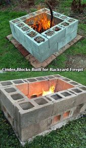30 great DIY ideas to cheaply build a nice fireplace from a few paving stones