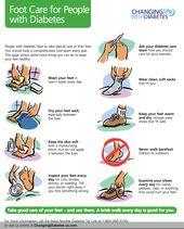 Fußpflege für Menschen mit Diabetes: Waschen Sie Ihre Füße täglich in warmem Wasser. Trocken …   – for health and wellness