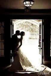Silhouette von Braut und Bräutigam … das wird nicht schwer zu ertragen sein, denn das ist … #braut #brautigam #ertragen #nicht #schwer