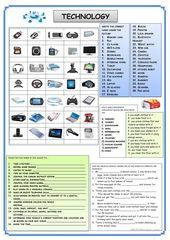TECHNOLOGY - English ESL Worksheets 2