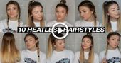 10 EASY BACK TO SCHOOL HEATLESS HAIRSTYLES! #hairstyles #Diyhairstyles - #Diyhairstyles #hairstyles #heatl -