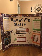 3rd Grade Bouncing Ball Science Fair project
