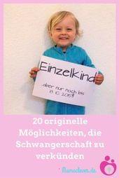 20 Wege, die Schwangerschaft kreativ zu verkünden | Mamaclever.de