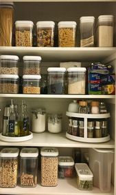 Small pantry with better houses and garden containers. – Organization porn